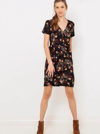 Čierne kvetované šaty CAMAIEU