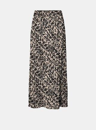 Béžová maxi sukně se zvířecím vzorem VERO MODA Saga
