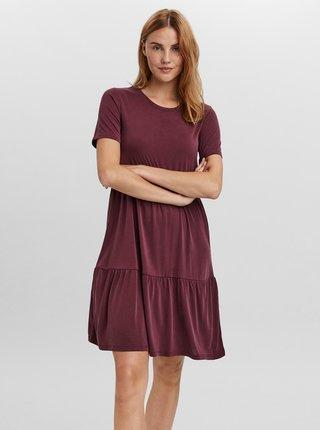 Vínové šaty VERO MODA Filli
