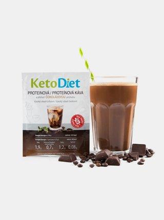 Proteinová ledová káva s čokoládovou příchutí KetoDiet (7 porcí)