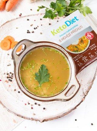 Proteinová polévka hovězí s nudlemi KetoDiet (7 porcí)