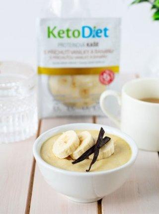 Proteinová kaše s příchutí vanilky a banánu KetoDiet (7 porcí)