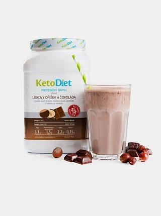 Proteinový nápoj s příchutí lískového oříšku a čokolády na 1 týden KetoDiet (35 porcí)