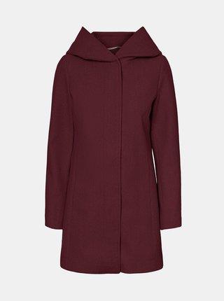 Vínový kabát s kapucí VERO MODA Dafnedora