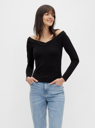 Černé tričko Pieces Maliva