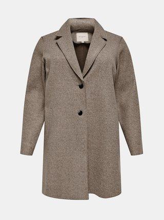 Hnedý ľahký kabát ONLY CARMAKOMA Carrie