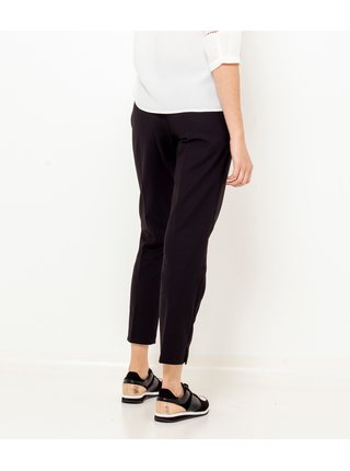 Černé zkrácené straight fit kalhoty CAMAIEU