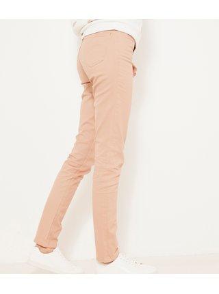 Světle růžové slim fit kalhoty CAMAIEU