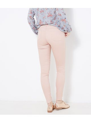 Svetloružové skinny fit nohavice CAMAIEU