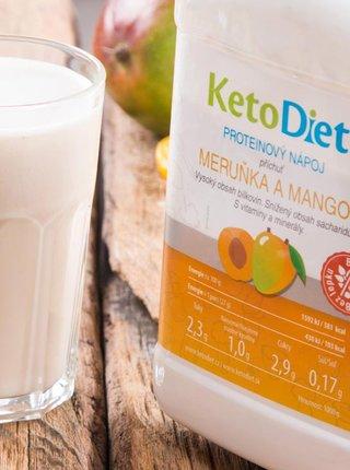Proteinový nápoj s příchutí meruňky a manga na 1 týden KetoDiet (35 porcí)