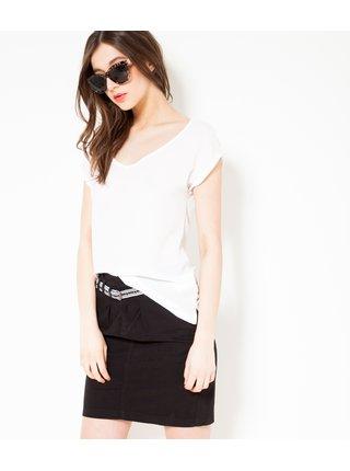 Čierna krátka sukňa CAMAIEU
