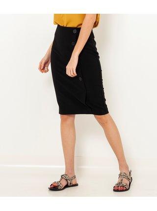 Čierna púzdrová sukňa CAMAIEU