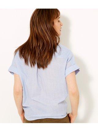 Světle modrá košile s výšivkou CAMAIEU