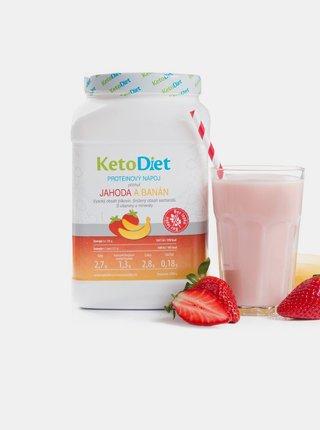 Proteinový nápoj s příchutí jahody a banánu na 1 týden KetoDiet (35 porcí)