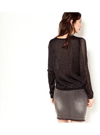 Černý lehký třpytivý svetr CAMAIEU