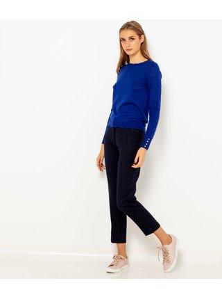 Tmavě modrý lehký vlněný svetr CAMAIEU
