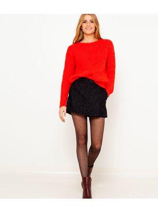 Červený volný svetr CAMAIEU