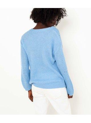 Modrý volný svetr CAMAIEU