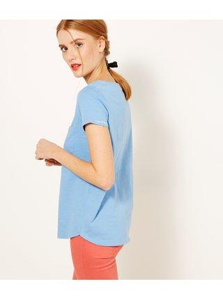 Modré tričko s kapsou CAMAIEU