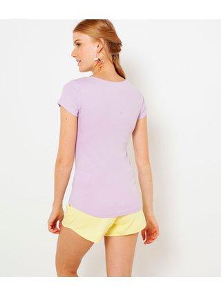 Světle fialové basic tričko CAMAIEU