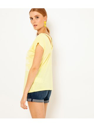 Žluté tričko s potiskem CAMAIEU
