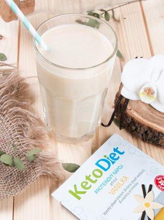 Proteinový nápoj s vanilkovou příchutí KetoDiet (7 porcí)