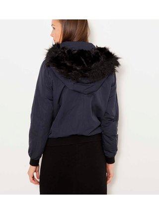Tmavošedá zimná bunda s kapucou CAMAIEU
