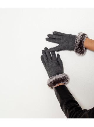 Šedé rukavice CAMAIEU