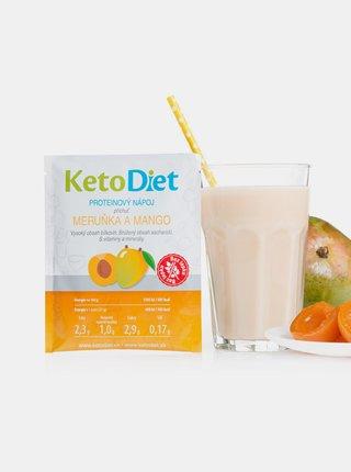 Proteinový nápoj s příchutí meruňky a manga KetoDiet (7 porcí)