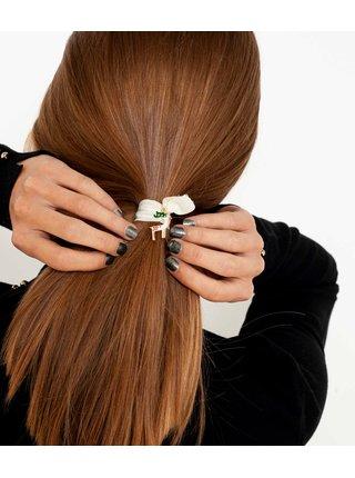 Sada tří gumiček do vlasů v červené, stříbrné a zlaté barvě CAMAIEU
