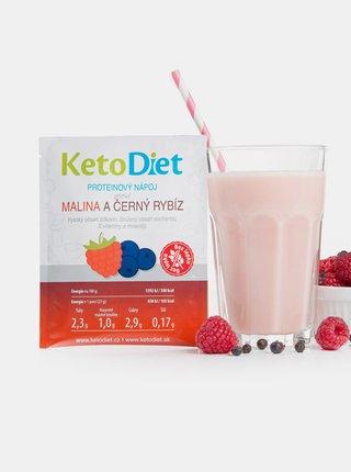 Proteinový nápoj s příchutí maliny a černého rybízu KetoDiet (7 porcí)
