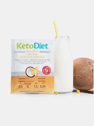 Proteinové smoothie s příchutí kokosu a vanilky KetoDiet (7 porcí)