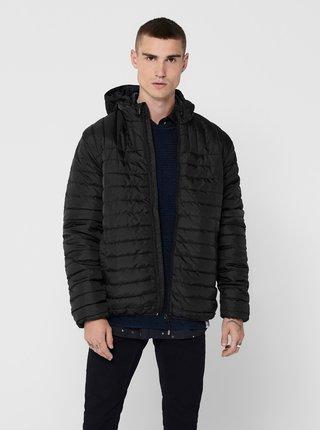 Čierna prešívaná bunda ONLY & SONS Paul