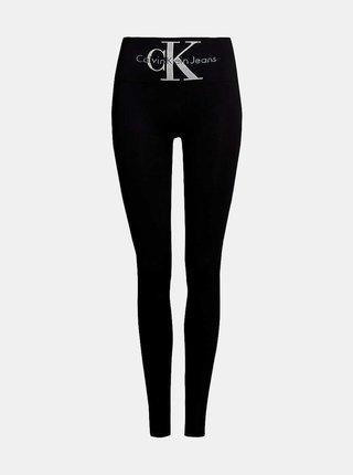 Černé dámské legíny s vysokým pasem Calvin Klein Jeans Logo