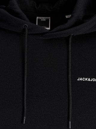 Čierna mikina s kapucou Jack & Jones Taping