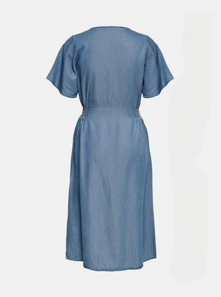 Modré rifľové šaty ONLY Nikoline