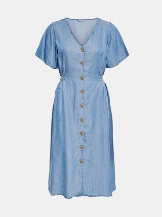 Světle modré džínové šaty ONLY Nikoline