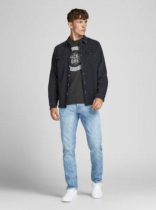 Tmavě šedé tričko s potiskem Jack & Jones Jeans