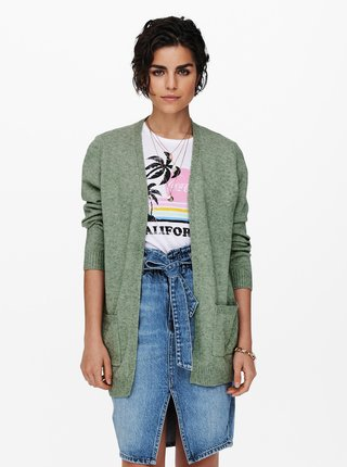 Zelený kardigan ONLY Lesly