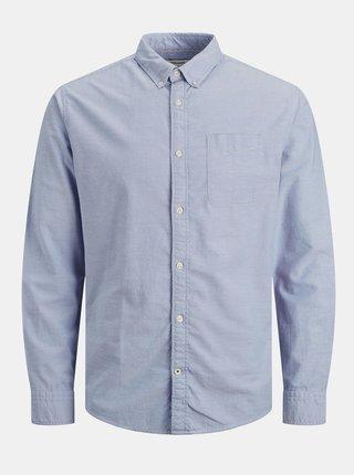 Modrá košile Jack & Jones Oxford
