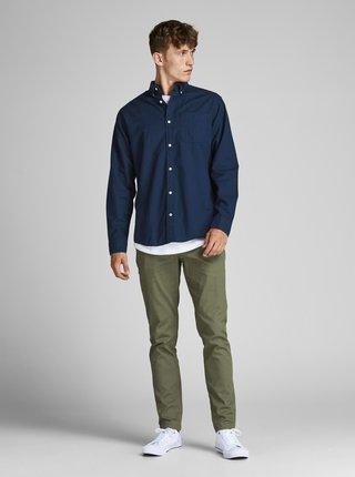 Tmavě modrá košile Jack & Jones Oxford