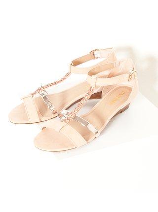 Telové sandále s kamienkami CAMAIEU