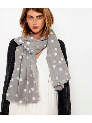 Světle šedý puntíkatý šátek CAMAIEU