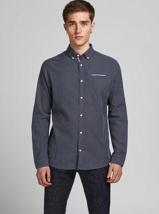 Tmavě modrá vzorovaná košile Jack & Jones Thomas