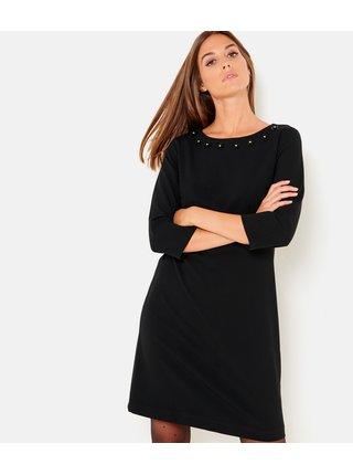 Černé šaty s 3/4 rukávem CAMAIEU