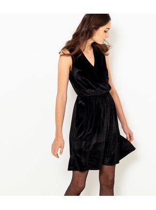 Čierne sametové šaty CAMAIEU
