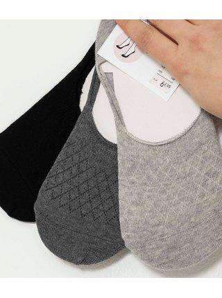 Sada 3 párov nízkych ponožiek CAMAIEU