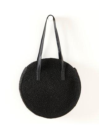 Černá slaměná kabelka CAMAIEU