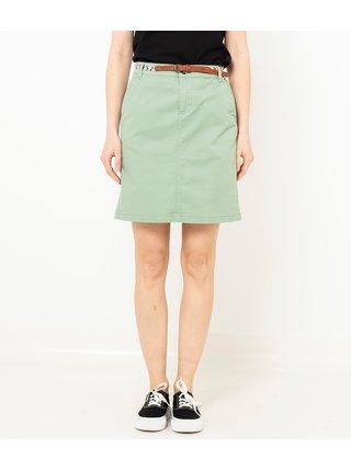 Svetlozelená sukňa CAMAIEU