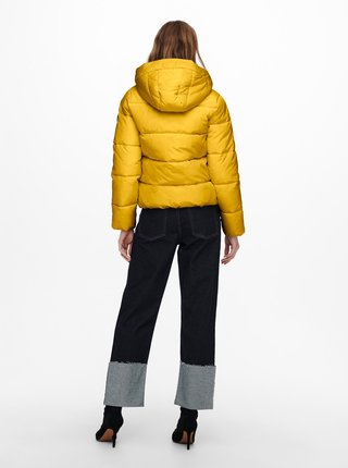 Žlutá prošívaná zimní bunda ONLY Amanda